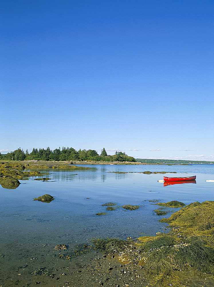 Coastal sceney on Deer Isle, Maine, New England, United States of America, North America