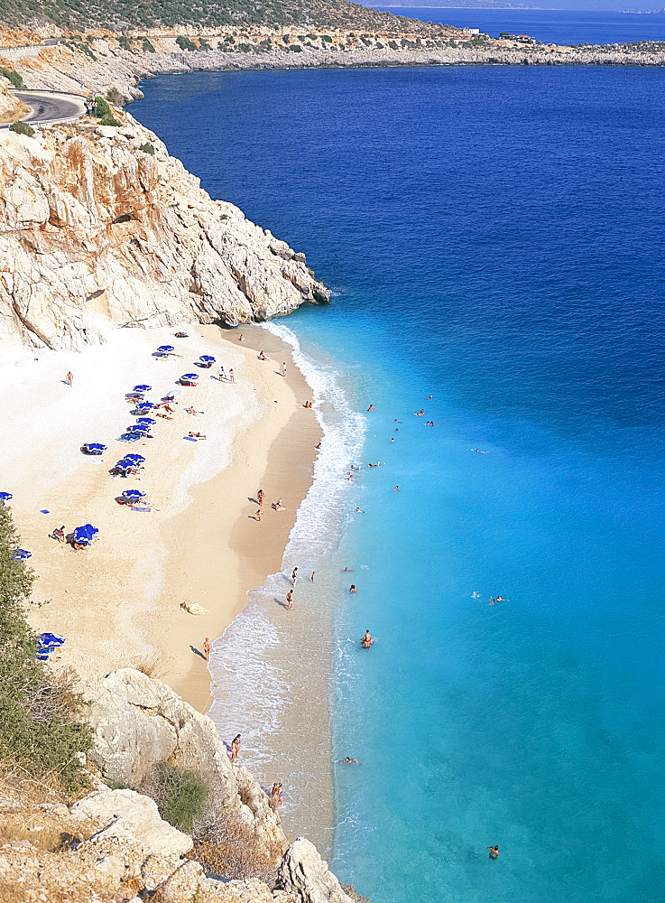 Kaputas beach near Kalkan, south coast, Anatolia, Turkey, Asia Minor, Asia - 149-4803
