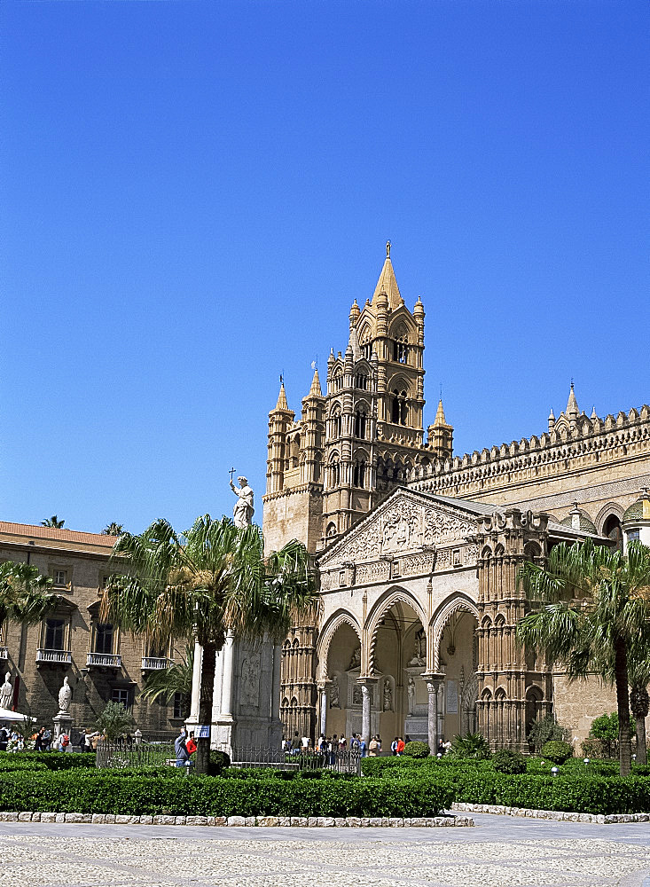 The cathedral, Palermo, Sicily, Italy, Europe