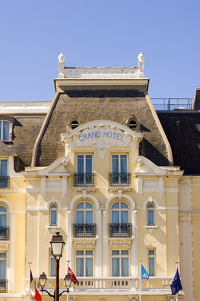 The Grand Hotel in Cabourg where Marcel Proust wrote 'A La Recherche du Temps Perdu', Cabourg, Normandy, France, Europe