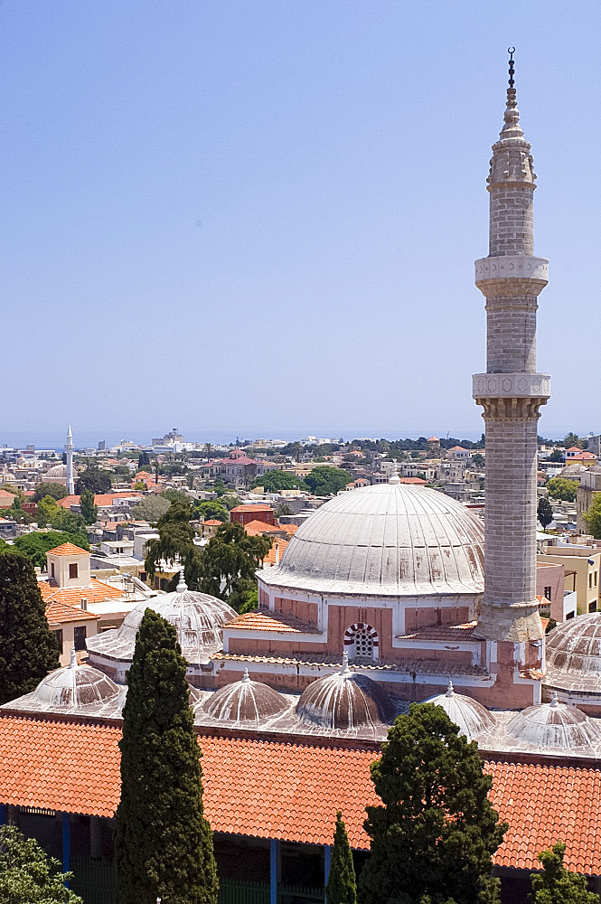 The Tzami Souleiman Mosque in Rhodes Town, Rhodes, Dodecanese, Greek Islands, Greece, Europe