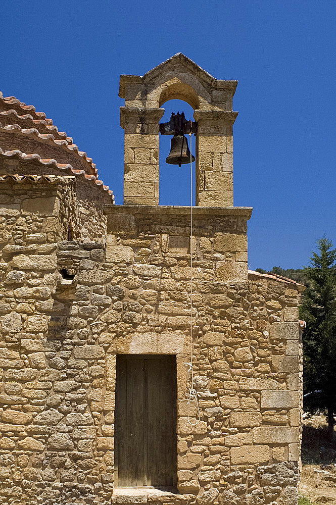 The stone church of the Archangel Michael in the village of Episkopi, Western Crete, Greek Islands, Greece, Europe