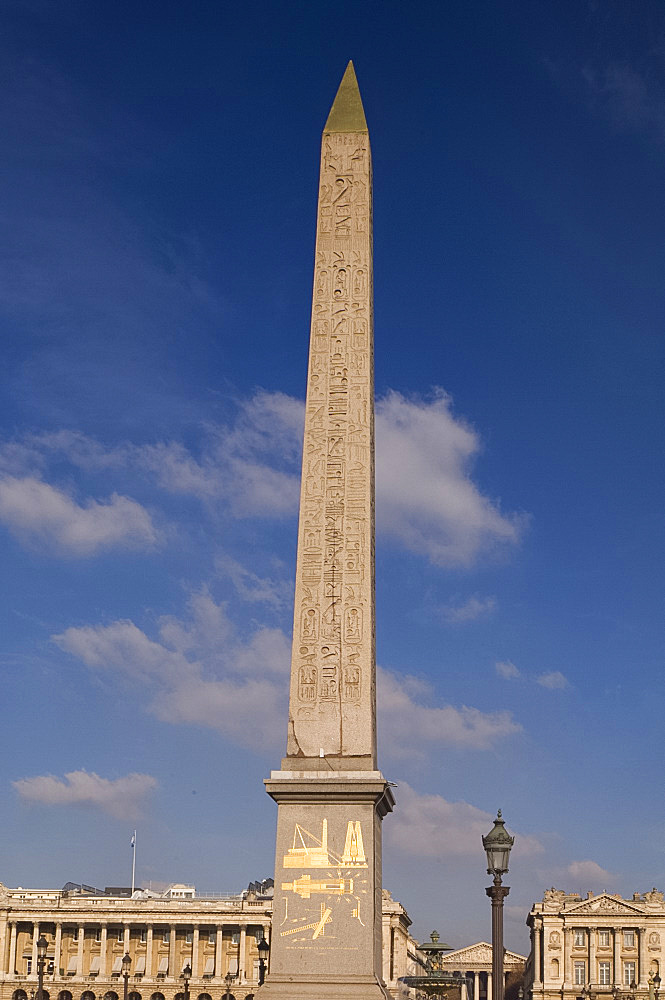 The Egyptian Needle in the Place de la Concorde, Paris, France, Europe
