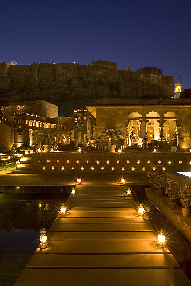 The Raas Hotel below the Mehrangarh Fort, Jodhpur, Rajasthan, India, Asia