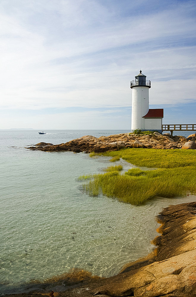 The Annisquam lighthouse, Annisquam near Rockport, Massachussetts, New England, United States of America, North America