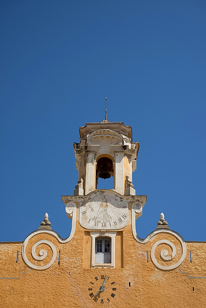 An old bell tower in the Terra Nova section of Bastia in northern Corsica, France, Europe
