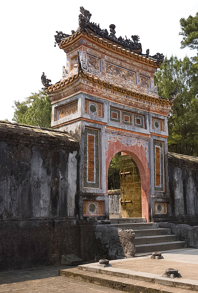 The Cong Gate at the entrance to the Tu Duc Tomb in Duong Xuan Thong Village near Hue, Vietnam, Indochina, Southeast Asia, Asia