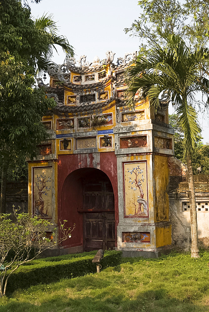 The Hing Mieu Temple Gate in the Imperial City, The Citadel, UNESCO World Heritage Site, Hue, Vietnam, Indochina, Southeast Asia, Asia