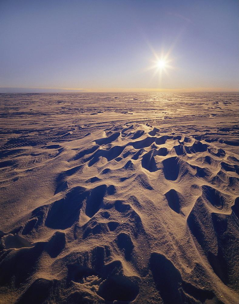 Sun on a Snowy Plateau, Antartica - 197-977