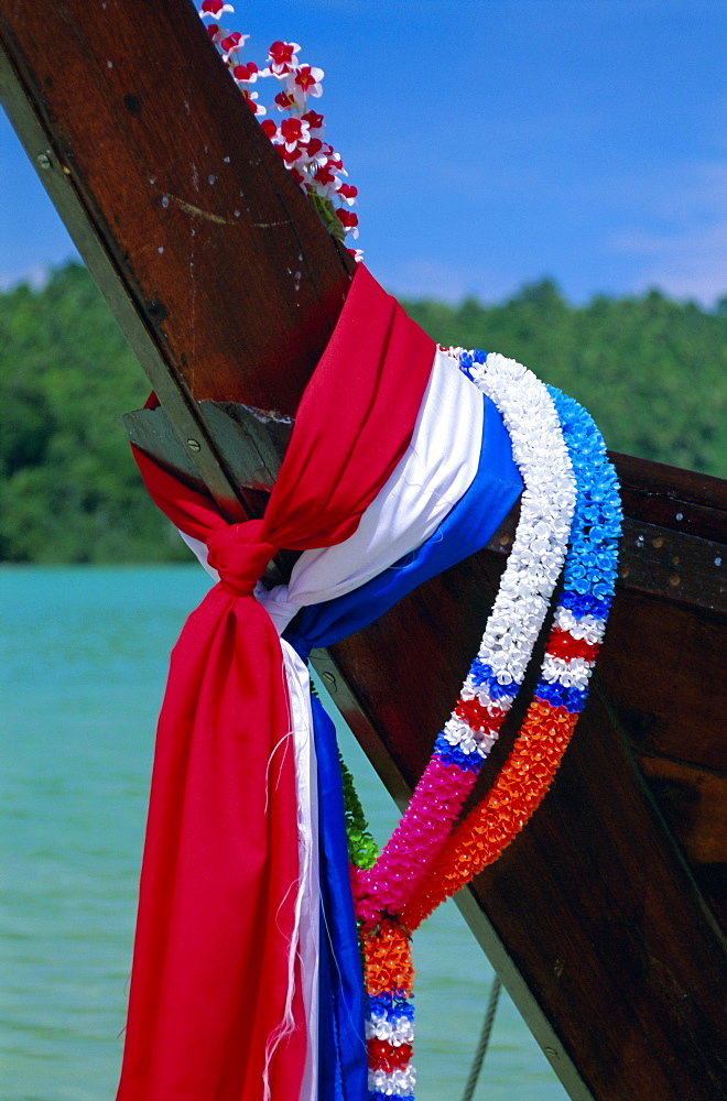 Detail of a long tailed boat, Phi Phi Don Island, Krabi Province, Thailand, Asia
