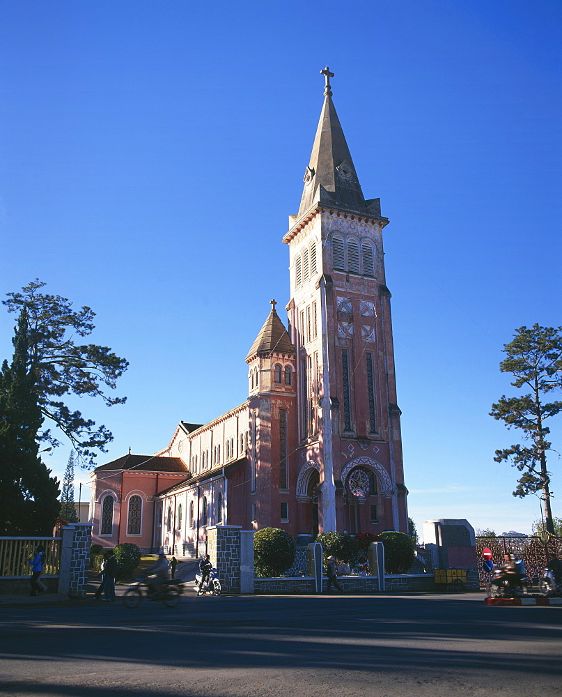 Dalat Christian cathedral, Dalat, Central Highlands, Vietnam, Indochina, Southeast Asia, Asia