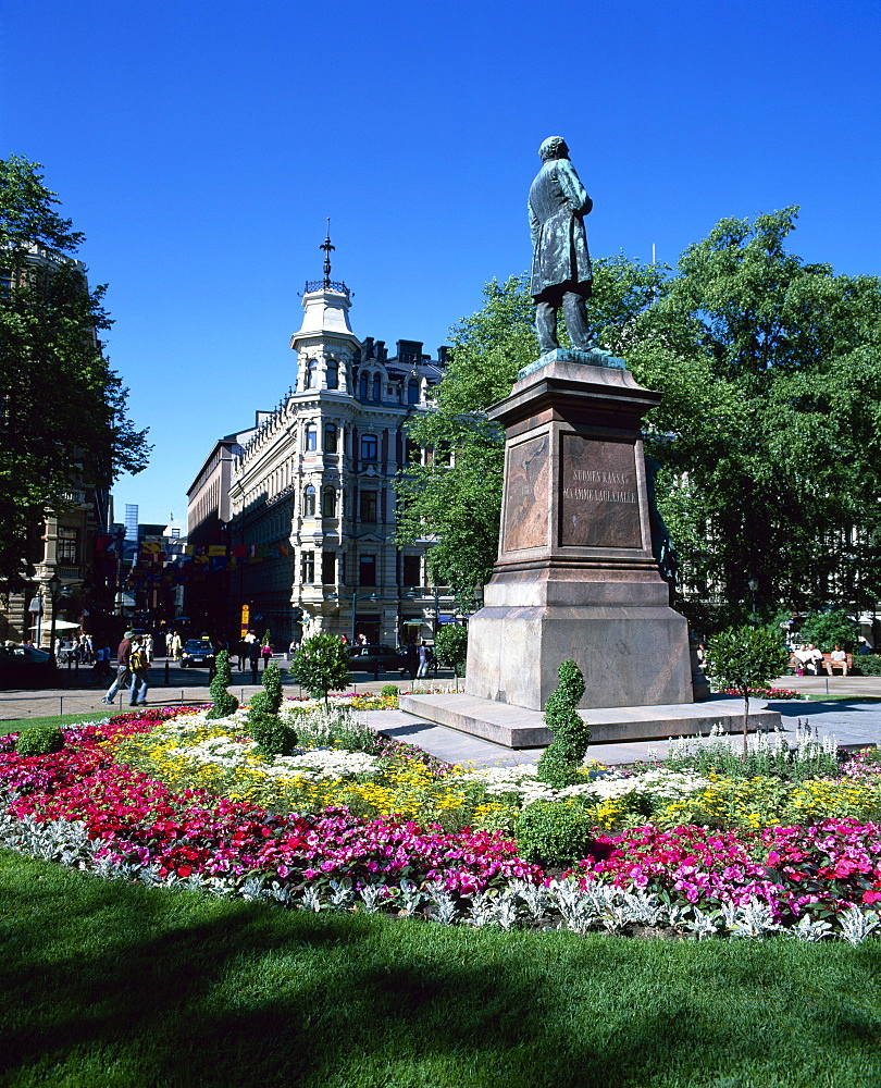 City centre park in the summer, Helsinki, Finland, Scandinavia, Europe