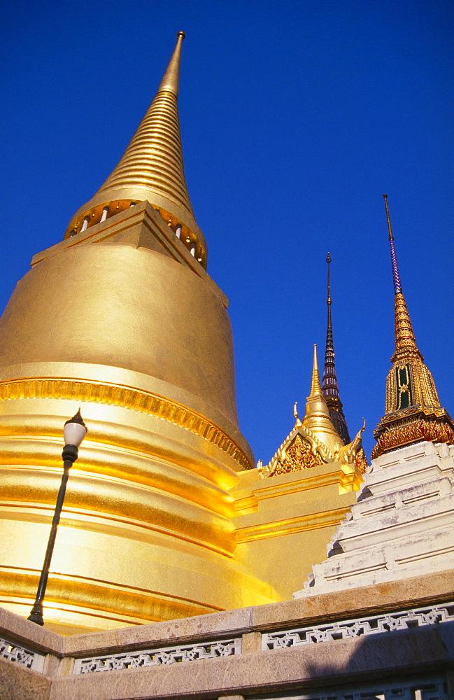 Golden Stupas at Wat Phra Kao, Bangkok, Thailand - 252-262