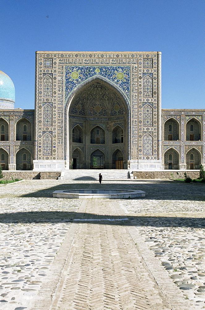 Tilla Kari madrasa, Registan Square, Samarkand, UNESCO World Heritage Site, Uzbekistan, Central Asia, Asia