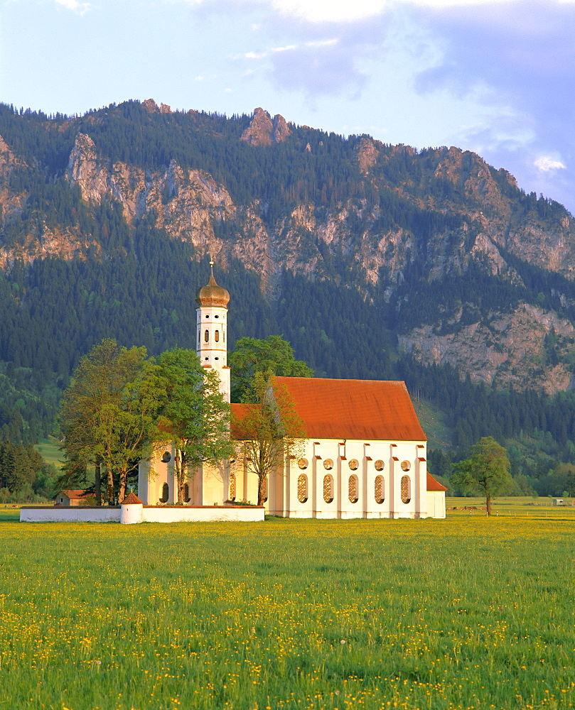 St. Coloman Church, Schwangau, Bavaria, Germany, Europe