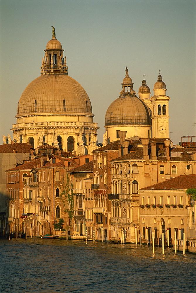 The church of Santa Maria della Salute, seen across the Grand Canal, from the Academia Bridge, Venice, UNESCO World Heritage Site, Veneto, Italy, Europe