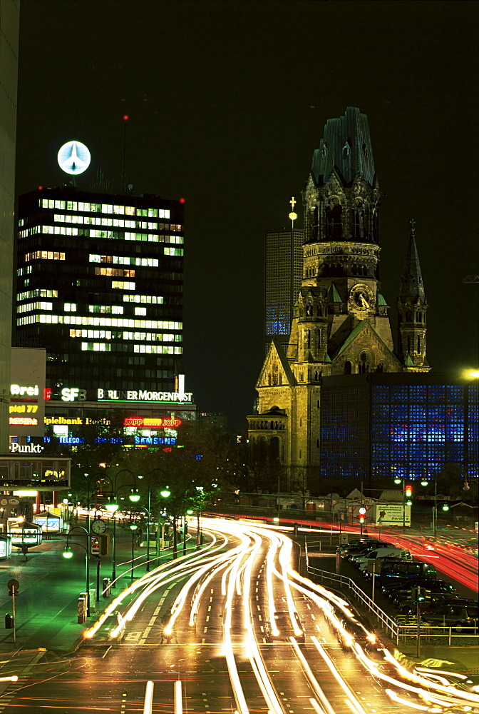 Kurfurstendam and Kaiser Wilhelm Memorial Church, Berlin, Germany, Europe
