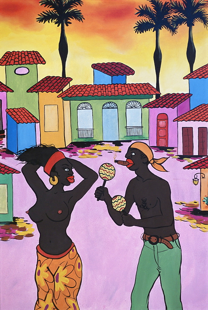 Cuban painting, Havana, Cuba, West Indies, Central America
