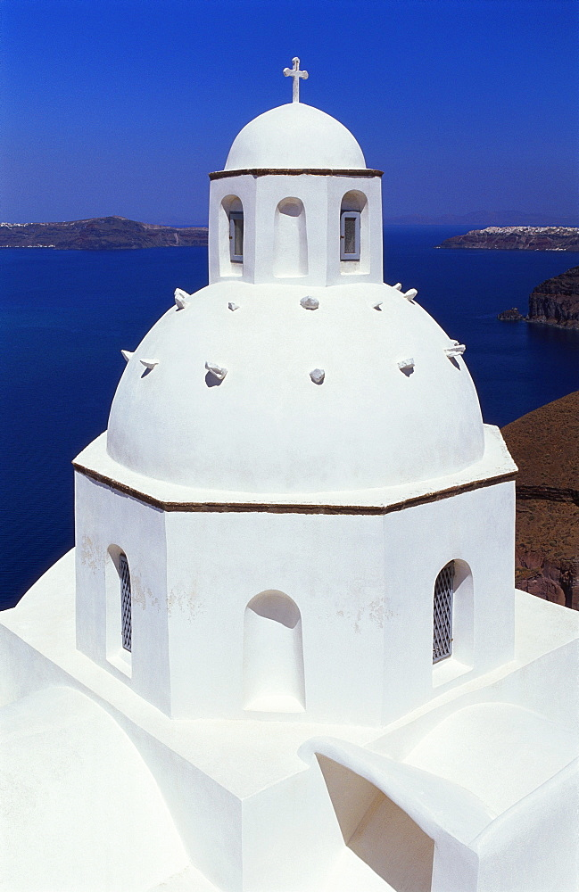 Orthodox Church, Thira, Santorini, Cyclades, Greece - 252-7578