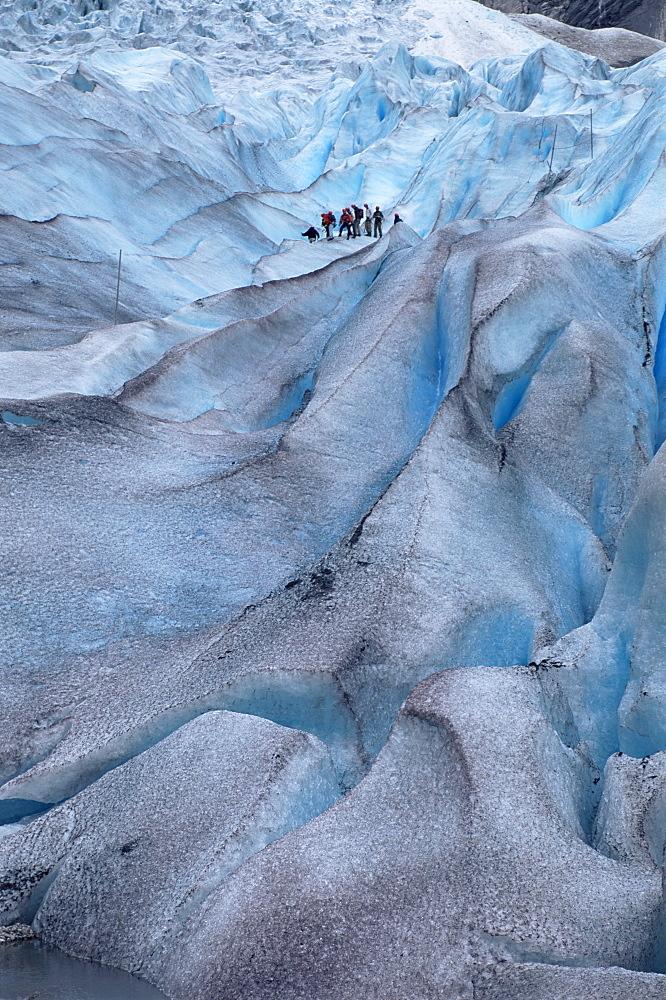 Glacier climbing tour, Briksdalsbreen Glacier, Western Fjords, Norway, Scandinavia, Europe - 252-8397