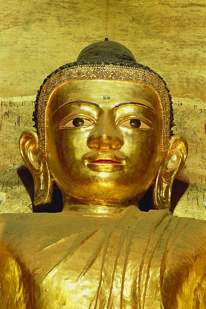 Standing Buddha, Ananda Pahto Temple, Bagan (Pagan), Myanmar (Burma), Asia