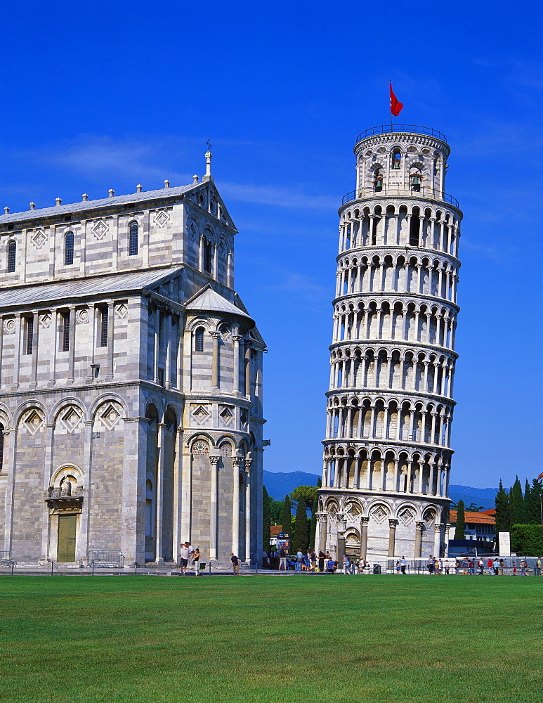 Leaning Tower of Pisa and the Duomo, Pisa, Tuscany, Italy - 252-9216