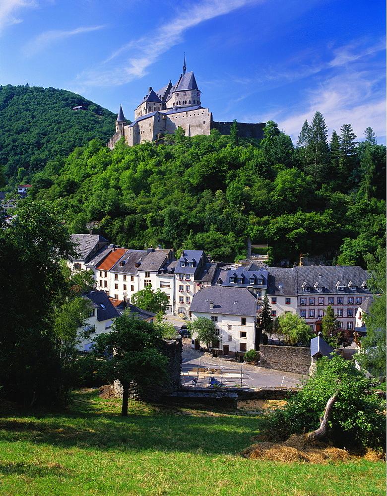 Vianden Castle, Vianden Town, Luxembourg - 252-9595