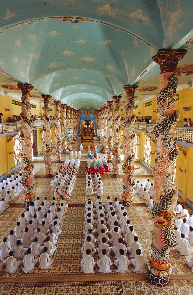 Cao Dai Mid-day Mass, The Cao Dai Temple, Tay Ninh (near Saigon), Vietnam - 252-9905