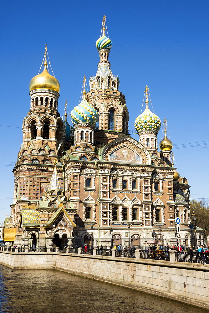 Church of our Saviour on Spilled Blood (Church of the Resurrection of Christ), UNESCO World Heritage Site, St. Petersburg, Russia, Europe - 29-5480