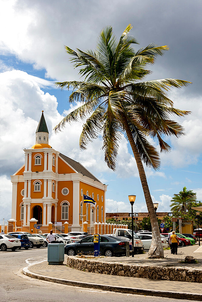 Queen of the Most Holy Rosary Cathedral, Willemstad, Curacao, ABC Islands, Dutch Antilles, Caribbean, Central America - 29-5604