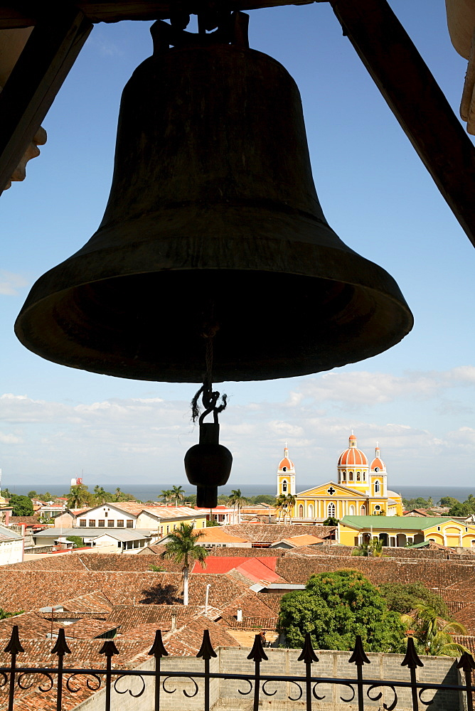 Cathedral from La Merced belltower, Granada, Nicaragua, Central America - 306-3512
