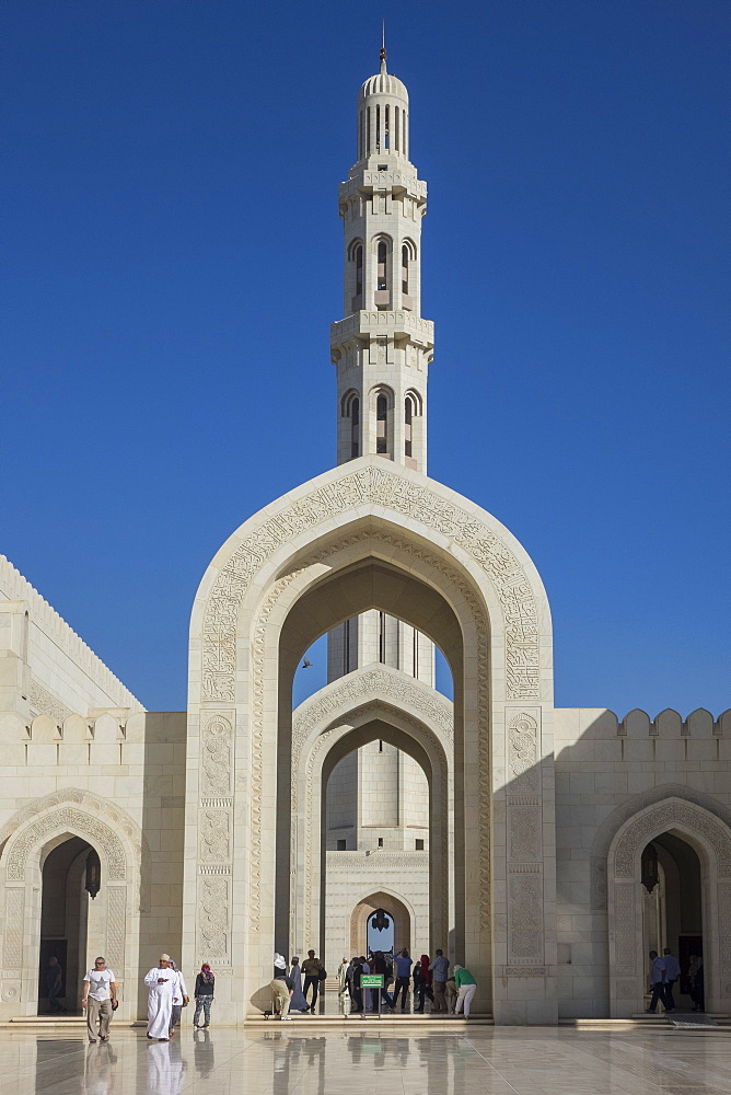Sultan Qaboos Mosque, Muscat, Oman, Middle East - 306-4395