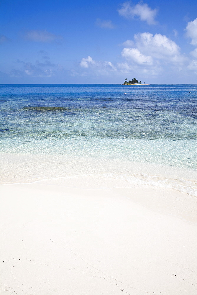 Beach, Silk Caye, Belize, Central America