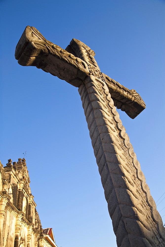 Cross outside Iglesia de la Merced, Granada, Nicaragua, Central America
