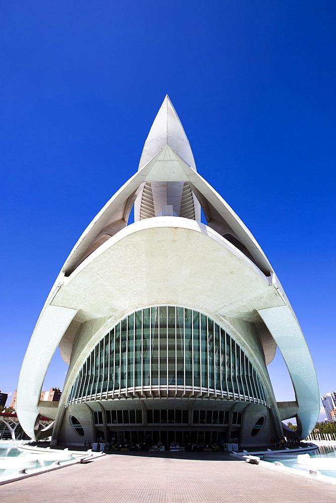 El Palau de les Arts Reina Sofia (Opera House and performing arts centre) at the City of Arts and Sciences (Ciudad de las Artes y las Ciencias), Valencia, Spain, Europe