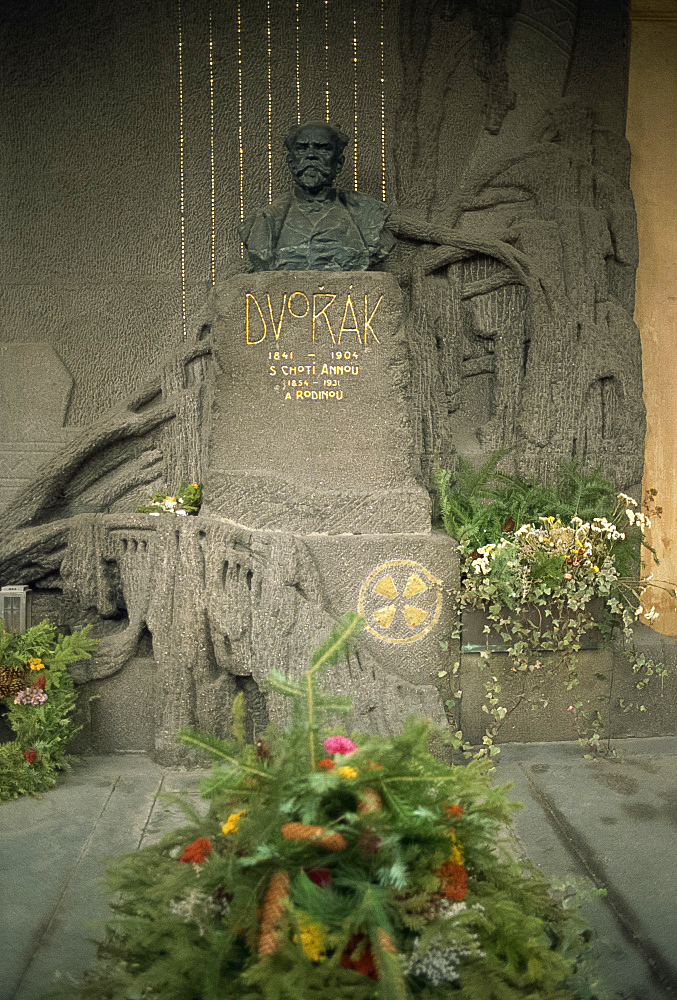 Grave of Dvorak, Prague, Czech Republic, Europe