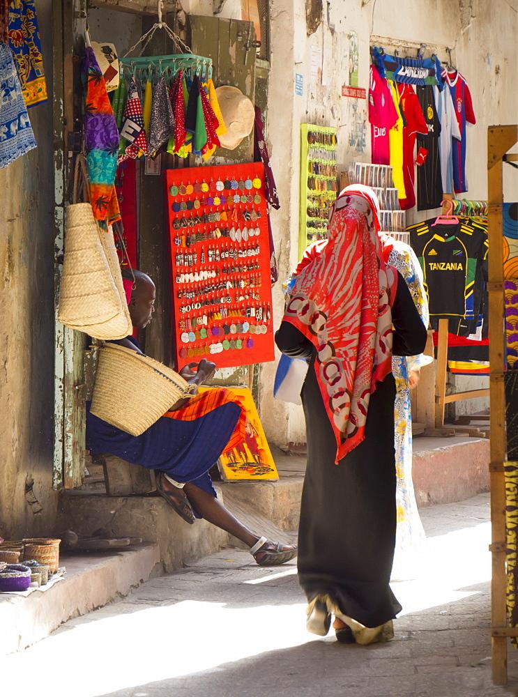Streetscene, Stone Town, Zanzibar, Tanzania, East Africa, Africa
