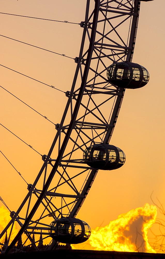 London Eye (Millennium Wheel), South Bank, London, England, United Kingdom, Europe