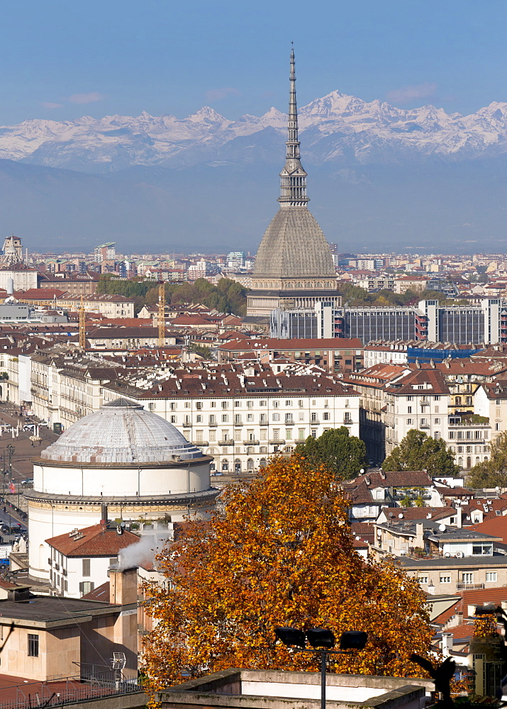 Mole Antonelliana and Gran Madre di Dio church, Turin, Piedmont, Italy, Europe - 367-6314