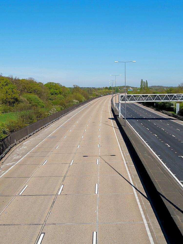 Empty A3 motorway in time of Covid lockdown - 367-6323
