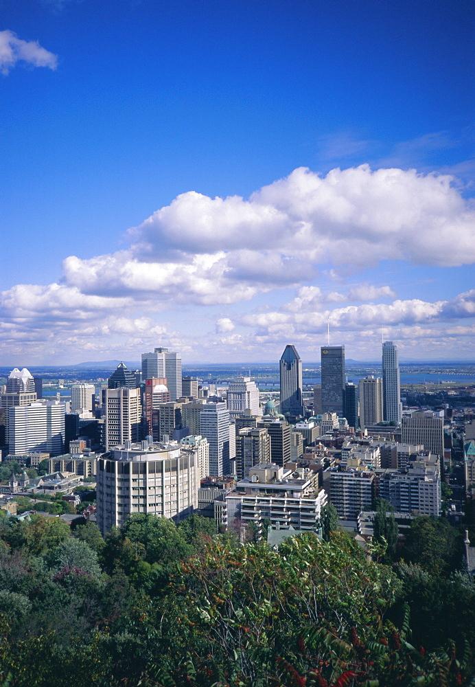 City skyline, Montreal, Quebec. Canada, North America