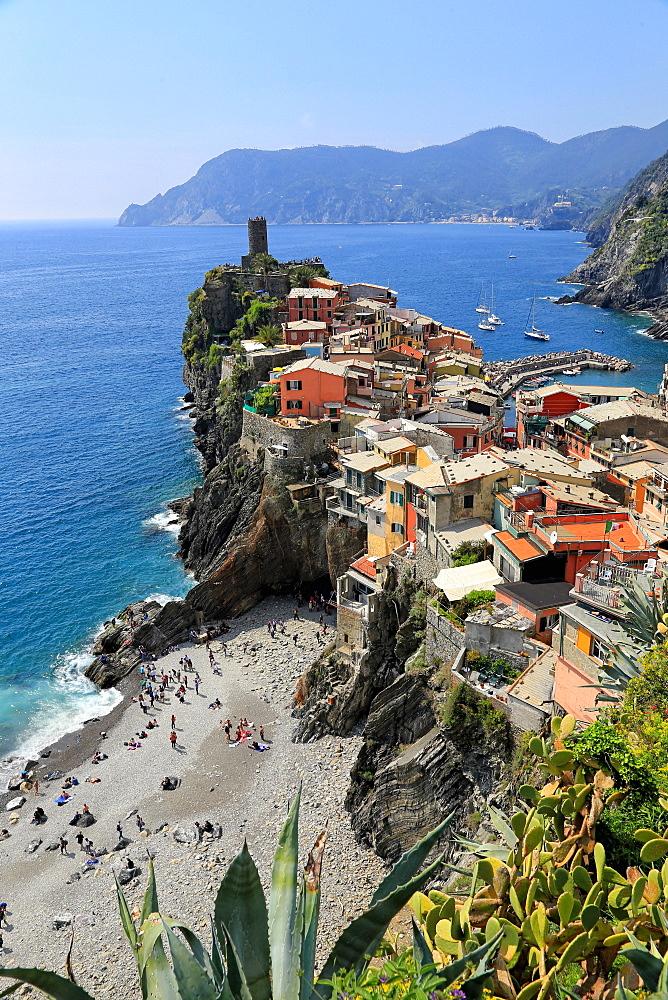 Vernazza, Italian Riviera, Cinque Terre, UNESCO World Heritage Site, Liguria, Italy, Europe