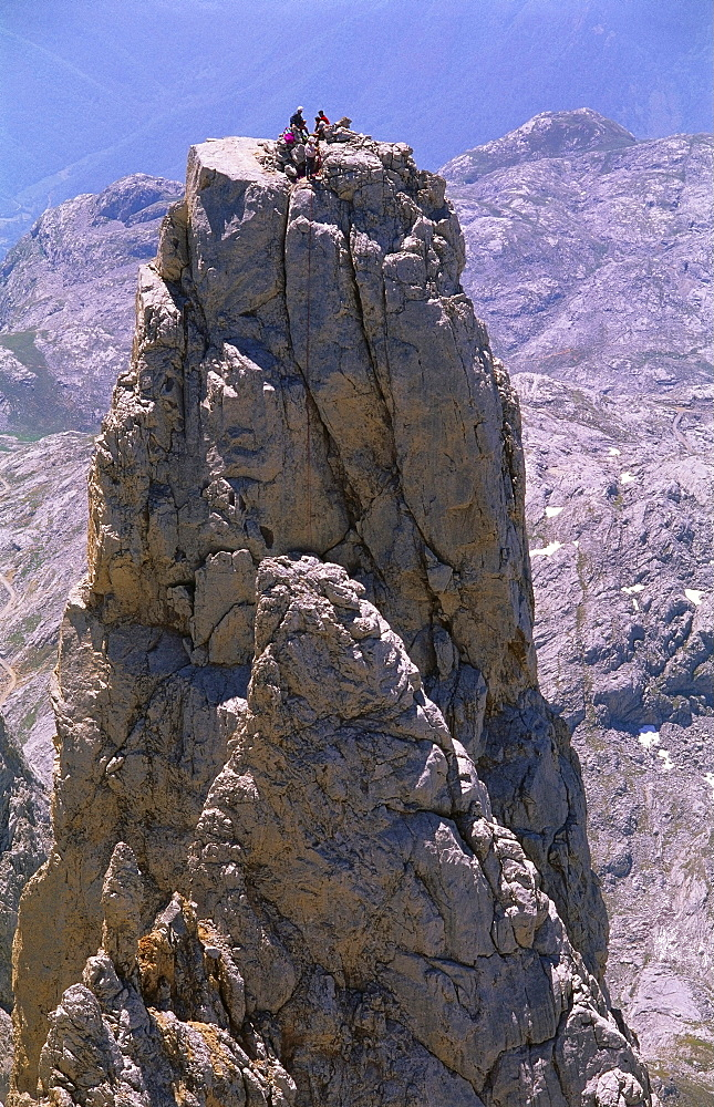 Four People on The Picos de Europa, Spain, Europe - 397-1841