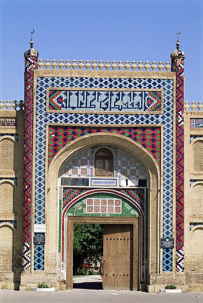 Sitorai-Mokhi-Khosa, summer palace gate, near Bukhara, Uzbekistan, Central Asia, Asia