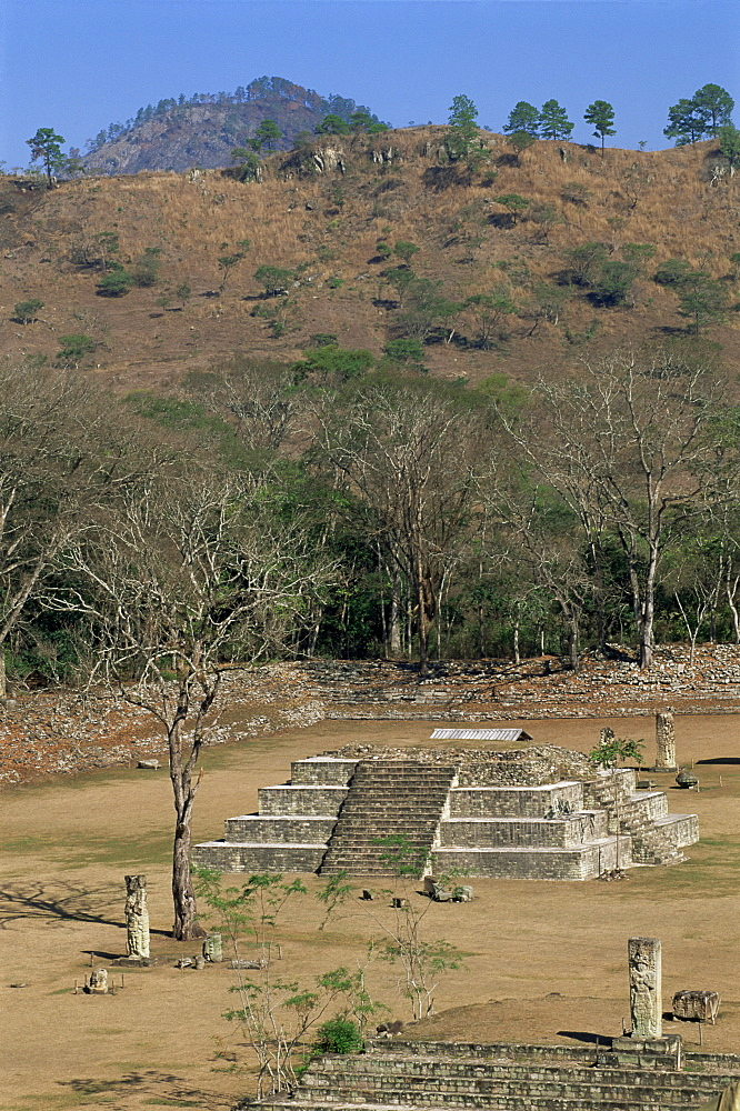 Great Plaza and Temple A, Copan, UNESCO World Heritage Site, Honduras, Central America