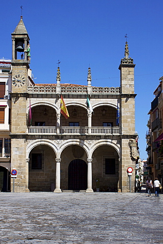 Town Hall, Plaza Mayor, Plasencias, Extremadura, Spain, Europe
