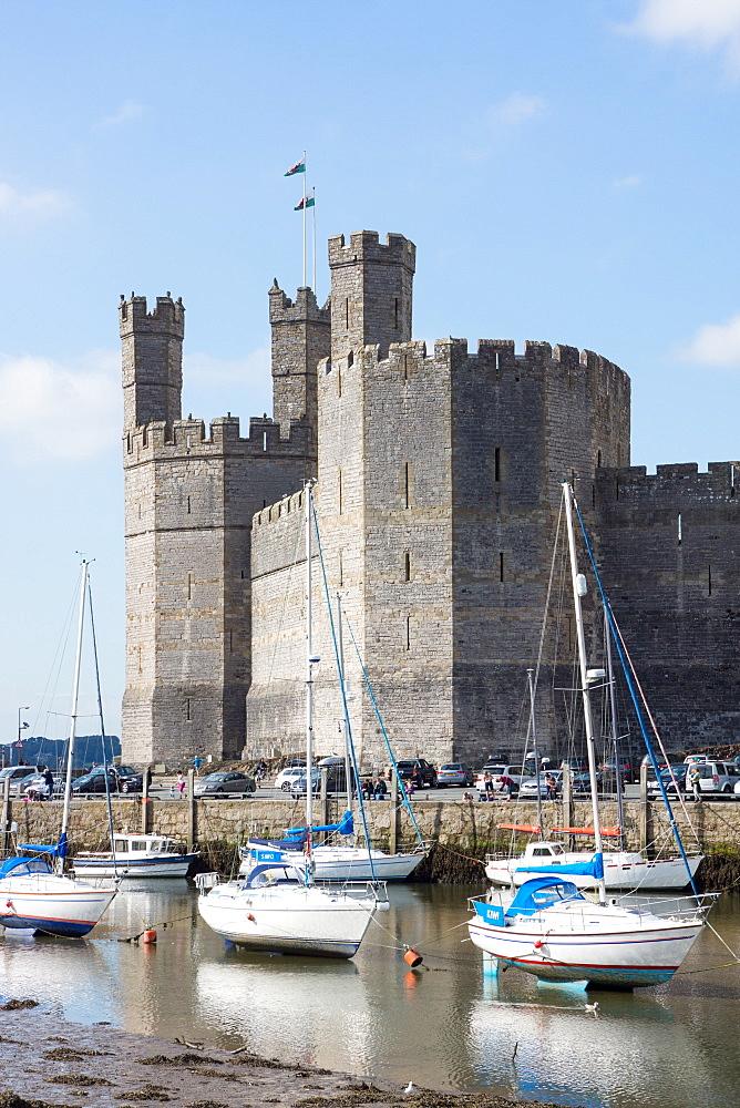 Caernarfon Castle, UNESCO World Heritage Site, Caernarfon, Wales, United Kingdom, Europe