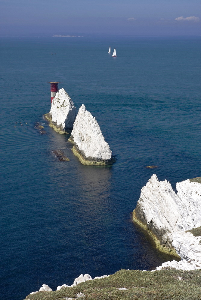 The Needles, Isle of Wight, England, United Kingdom, Europe - 485-9649