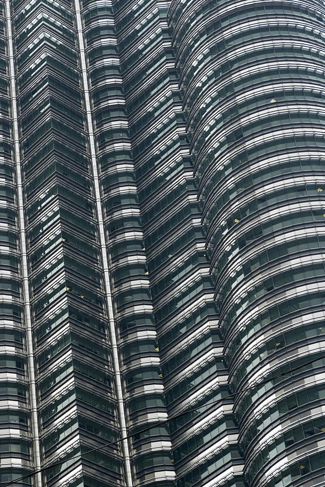 Petronas twin towers, close-up, Kuala Lumpur, Malaysia, Southeast Asia, Asia