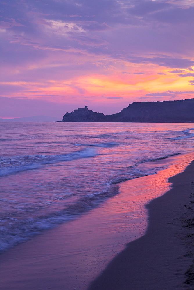 Castiglione della Pescaia, Roccamare Beach at sunset, Grosseto, Tuscany, Italy, Europe - 526-3803